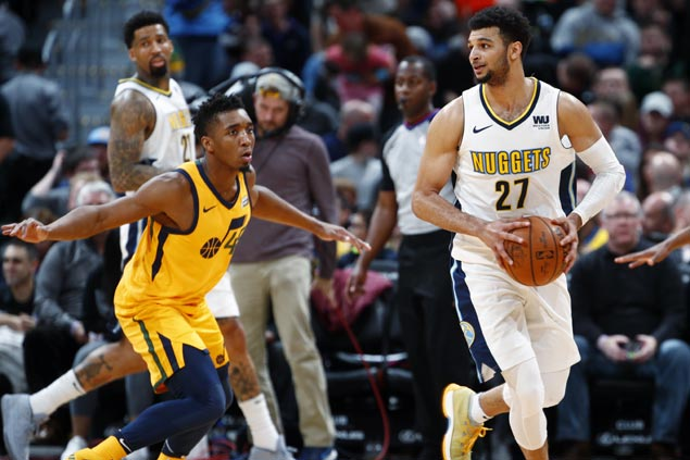 Jamal Murray takes charge early as Nuggets roll past skidding Jazz for third win in a row