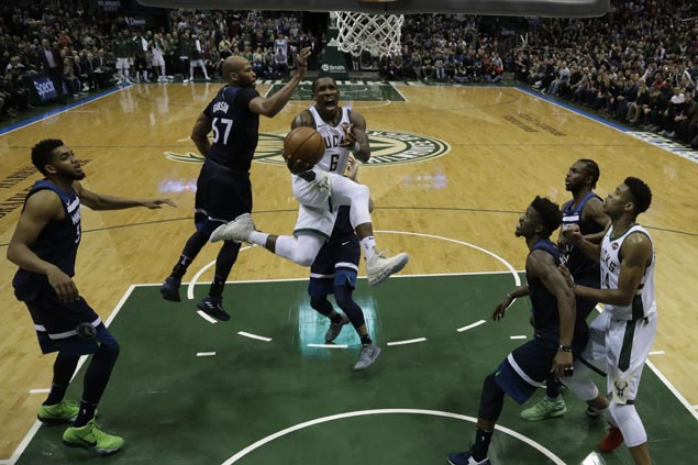 Eric Bledsoe takes charge as Bucks rally from 20 points down to halt T-Wolves five-game win run