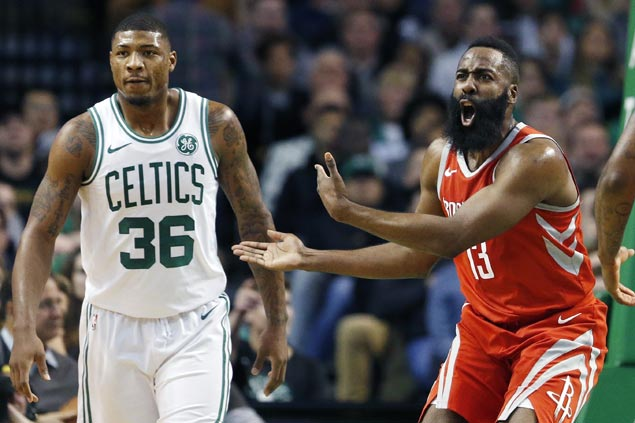 Horford's go-ahead basket, Harden's late blunders lead to Celtics stunning comeback win vs Rockets