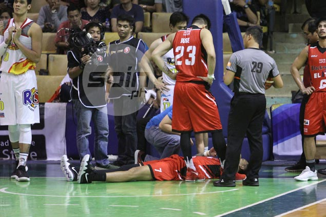 Poy Erram heaves sigh of relief as major injury ruled out after bad fall