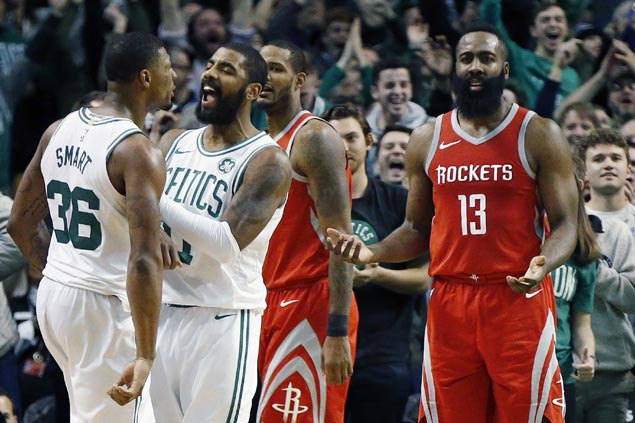 Out-Smart-ed James Harden hits out at two-man refereeing crew after Rockets meltdown