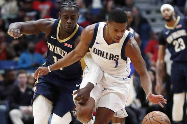 Dennis Smith posts triple-double, Mavs hit franchise-record 22 triples in win over Pelicans