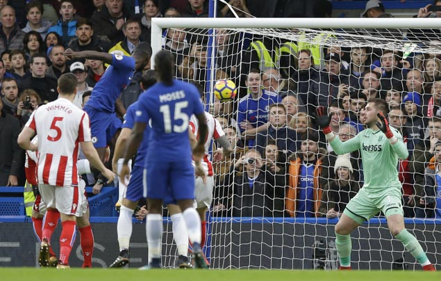 Rudiger, Drinkwater, Rodriguez strike early as Chelsea without Hazard still too strong for Stoke
