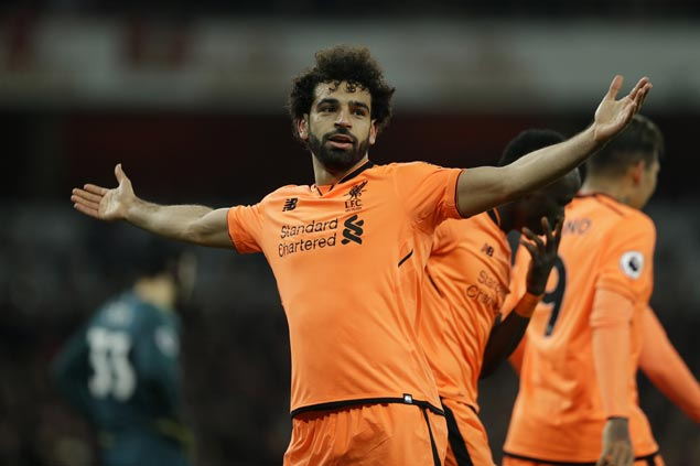 Mohamed Salah nets brace to match Roger Hunt mark as Liverpool downs Leicester