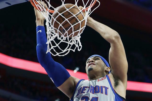 Short-handed Pistons hold Spurs to their lowest points total of season