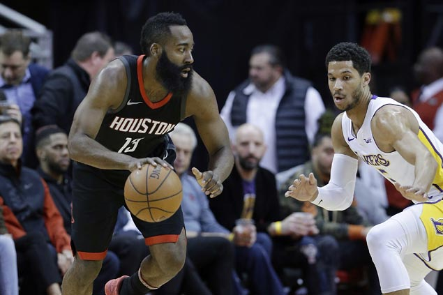 Chris Paul takes charge as James Harden leaves injured and Rockets edge Lakers in double OT