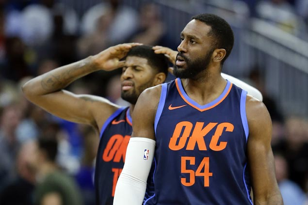 NBA slaps Thunder forward Patrick Patterson with $10,000 fine for tweet criticizing officiating