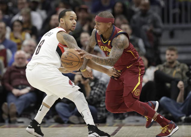 Isaiah Thomas makes immediate impact on debut as Cavaliers rip Blazers to snap three-game skid