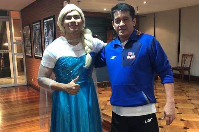 Kiefer Ravena game enough to dress as Frozen's Elsa in NLEX 'rookie initiation' rites