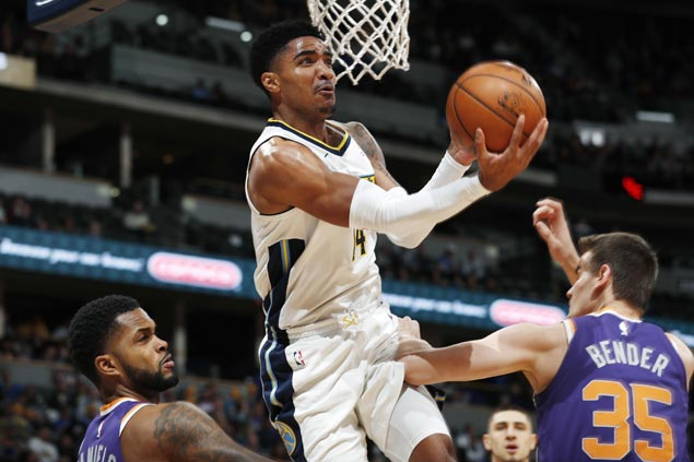 Gary Harris catches fire early to lead rout over Suns as Nuggets halt two-game skid