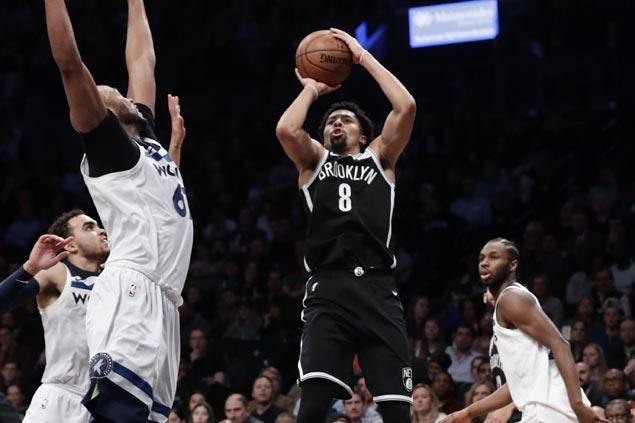 Spencer Dinwiddie caps career game with go-ahead jumper as Nets nip Timberwolves