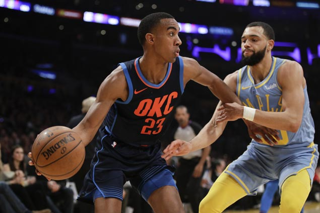Paul George insists monster breakout of OKC rookie Terrance Ferguson no fluke: 'He's special'