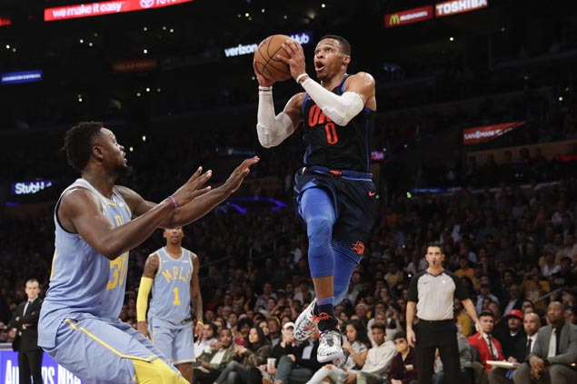 Russell Westbrook, OKC Thunder ride second quarter blitz to romp over slumping Lakers