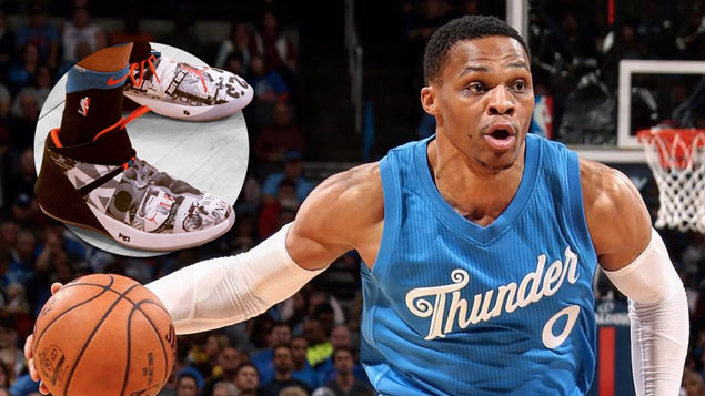 Russell Westbrook unveils first signature shoe that's as flamboyant as the OKC star