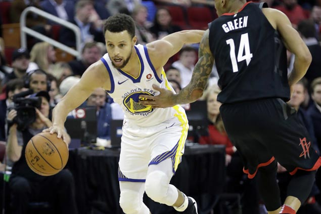 Splash Bros Curry, Thompson take charge as Durant-less Warriors pull away late vs Rockets