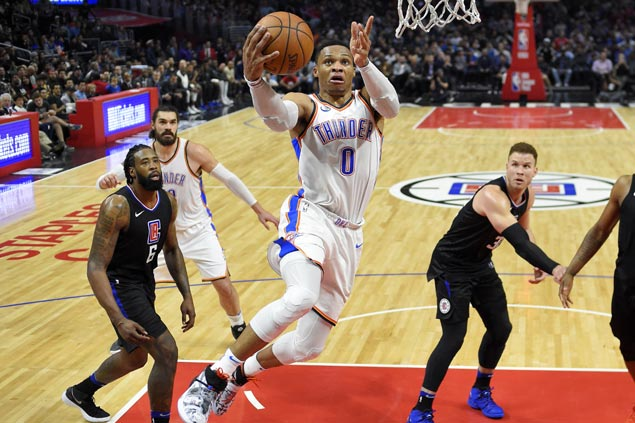 Thunder keep rolling as OK3 finally show perfect symphony in romp over Clippers