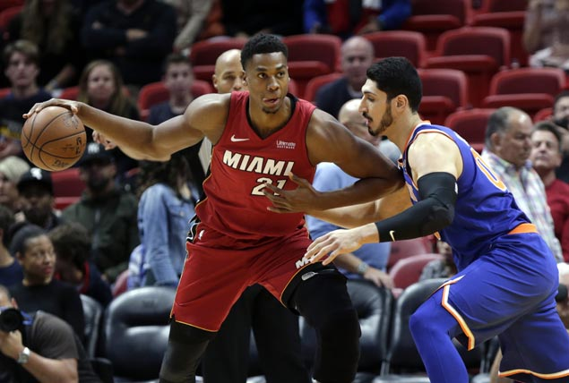 Six Miami players score in double figures as Heat overcome Knicks in overtime