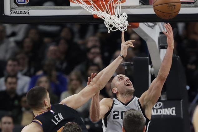 Manu Ginobili provides spark as undermanned Spurs assert mastery over Suns