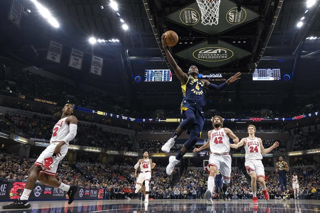 Victor Oladipo back with a bang, powers Pacers to 39-point rout of Bulls