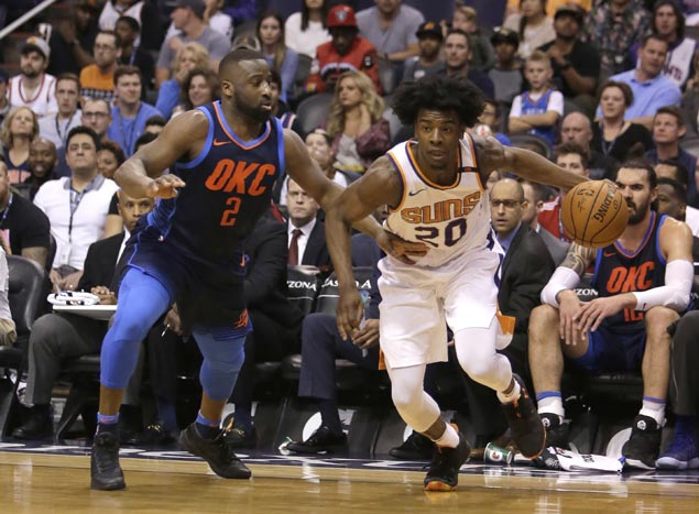 Rookie Josh Jackson posts first career double-double as Suns down Thunder