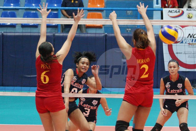 Marie Simborio shows way as Letran bounces back with rout of Mapua in NCAA women's volleyball