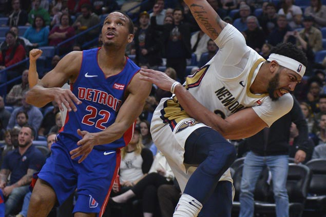 Boogie picks up slack as Brow hurts ankle and Pelicans squeak past Pistons