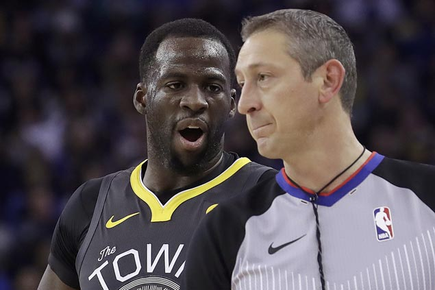 Draymond Green fined US$25,000 for publicly criticizing NBA officiating