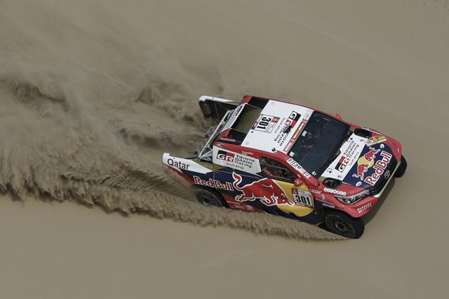 Nasser Al-Attiyah takes Dakar Stage 3 honors as Stephane Peterhansel moves to overall lead