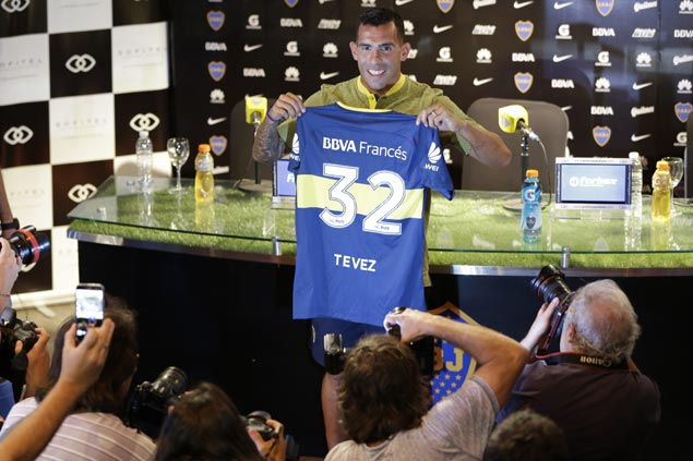 After dismal showing in China, Carlos Tevez returns for third stint with Boca Juniors