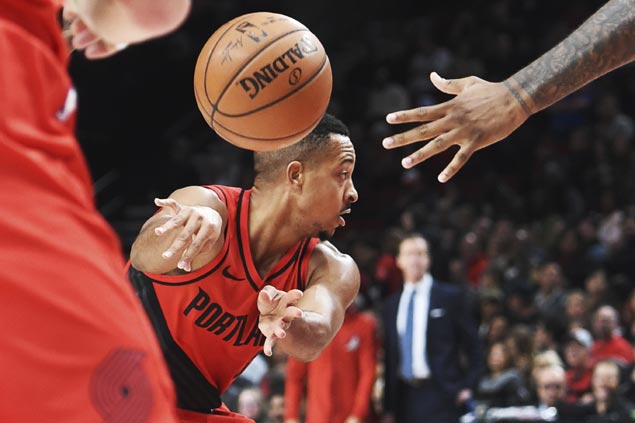 CJ McCollum catches fire in the third to power surging Blazers romp over skidding Thunder