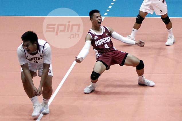Perpetual, CSB make quick work of separate foes to remain unbeaten in NCAA men's volleyball