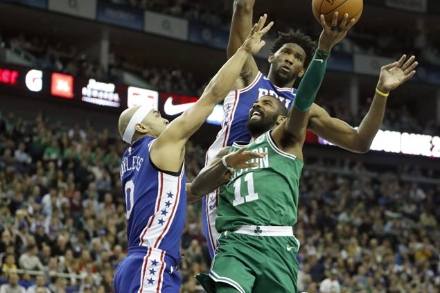 Celtics storm back from 22 points down with furious second half flurry to stun Sixers in London
