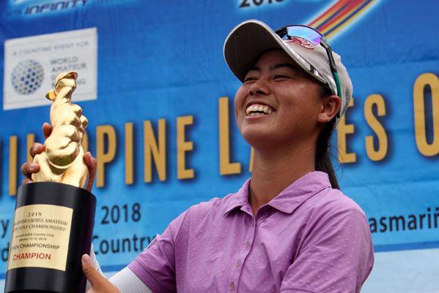 Fil-Japanese teen golfer Yuka Saso wins Philippine Ladies Open by two strokes