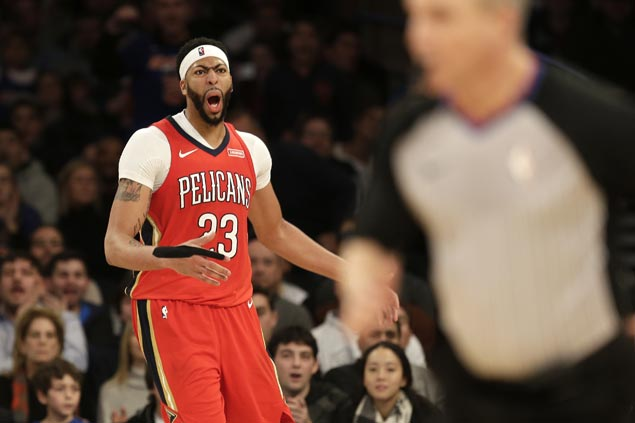 Anthony Davis puts in another solid performance at MSG and Pelicans outsteady Knicks in OT