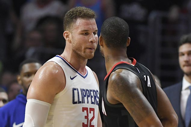 Harden, CP3, Ariza, Green storm Clippers dugout to confront Rivers, Griffin after heated loss
