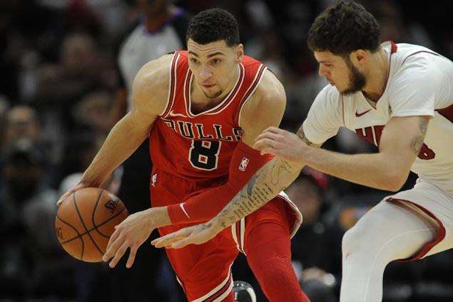Zach LaVine continues fine play as Bulls end Heat's win streak at seven