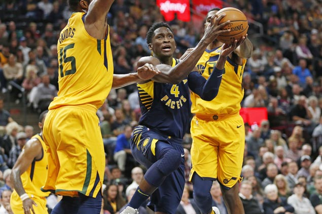 Victor Oladipo takes charge as hot-shooting Pacers cruise past skidding Jazz for third win in a row