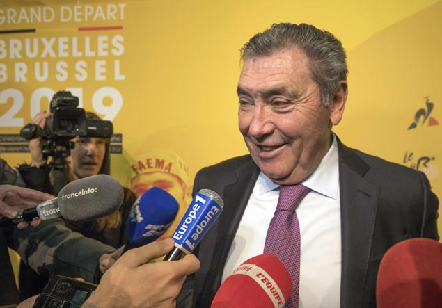 Tour de France to honor five-time champion Eddy Merckx when 2019 race fires off in Brussels