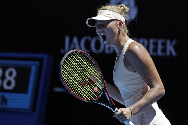 Fifteen-year-old qualifier Marta Kostyuk continues solid play to gain Australian Open third round