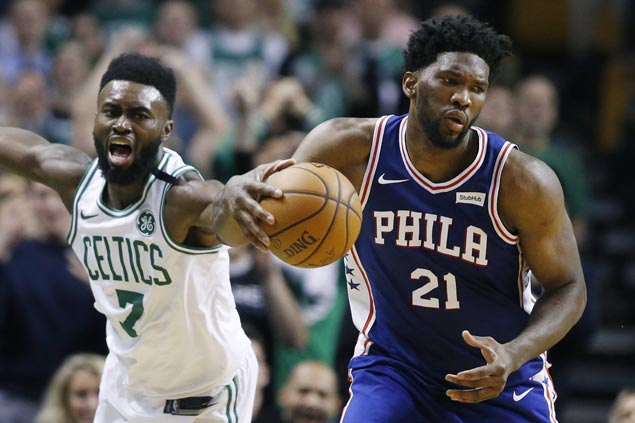 First-time All-Star Joel Embiid puts on show as Sixers hold off Kyrie Irving-less Celtics
