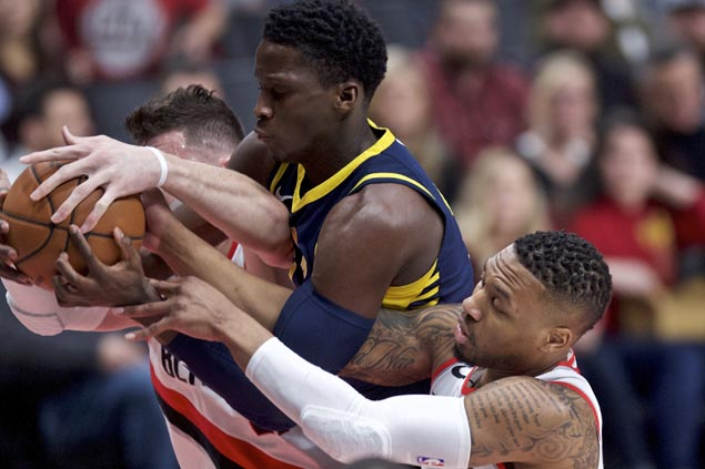 Blazers ride fourth quarter flurry to second straight win, halt Pacers three-game surge
