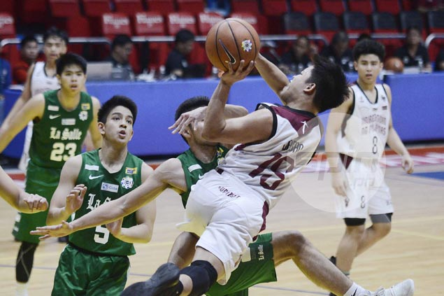 UPIS Junior Maroons blow big lead but recover to beat DLSZ Junior Archers for second straight win