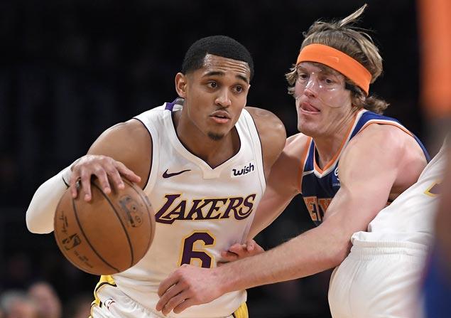 Double-doubles by Jordan Clarkson, Julius Randle power Lakers past Knicks