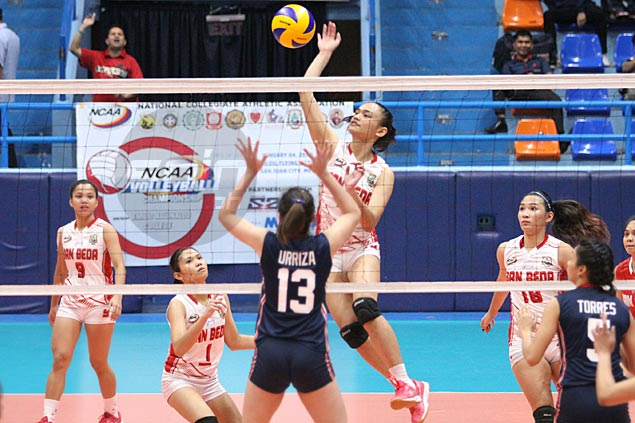 San Beda edges Letran in five to stay unbeaten, gain share of lead with Arellano