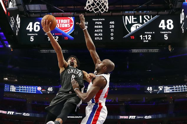 Spencer Dinwiddie hits last-gasp basket to carry Nets over Pistons