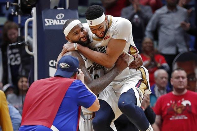 Anthony Davis lauds beaten-down Boogie Cousins after 'legendary' game vs Bulls