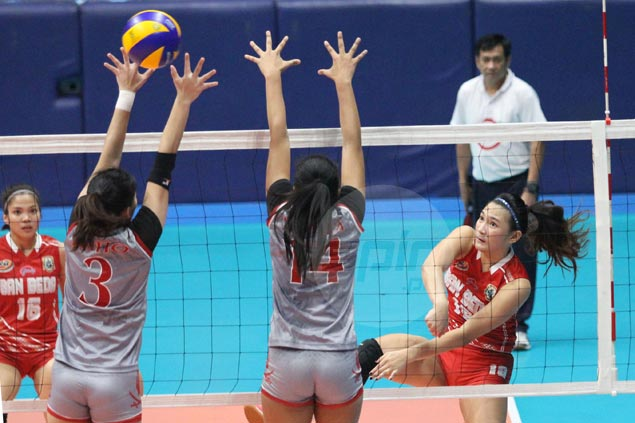 San Beda survives error-plagued match against Lyceum for sixth win and share of NCAA lead