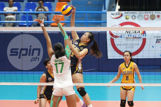 JRU Lady Bombers turn back CSB Lady Blazers to halt two-game skid in NCAA volleyball