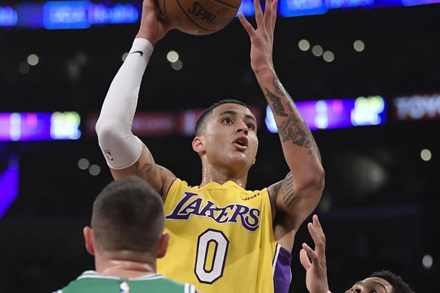 Kuzma-gic almost not enough as Lakers hang on to beat Celtics despite free throw shooting woes