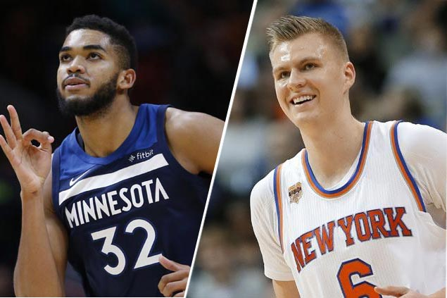 Porzingis, KAT lead reserves as Warriors make history with four All-Stars